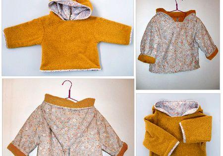 manteau b b couture patrons et tutos gratuits b b s enfants pinterest. Black Bedroom Furniture Sets. Home Design Ideas