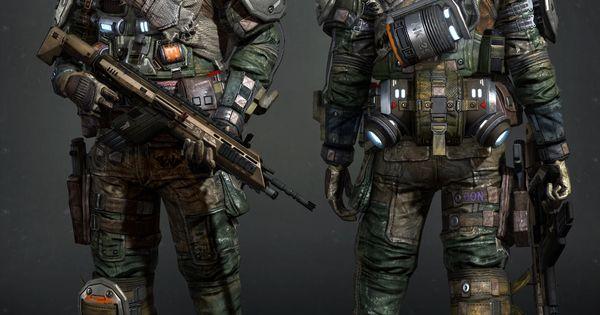 titanfall � militia � 3d fan art weaponsmecha pinterest