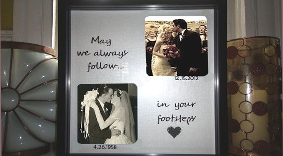Wedding Anniversary Gifts For Parents Pinterest : Parents Anniversary Gift, Wedding Gift for Parents, Personalized Frame ...