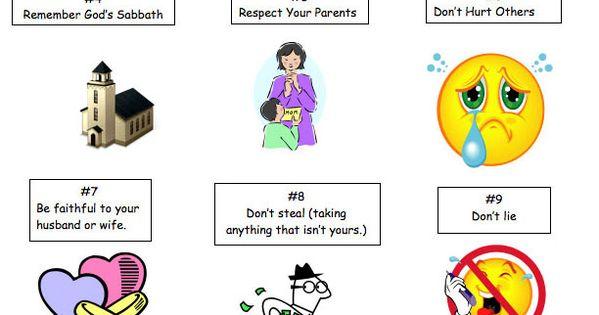 Ten Commandments for Kids My