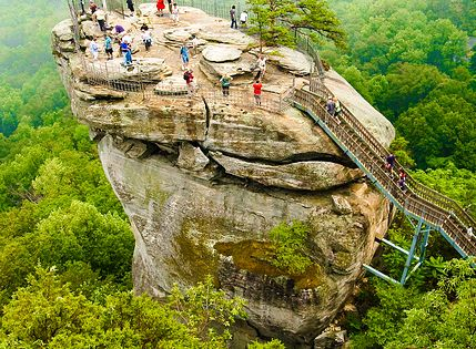 Chimney Rock, North Carolina beautiful view of the Blue Ridge Mountains &