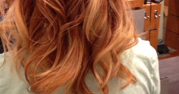 Ombr With Copper Red And Blonde Hair Pinterest Beautiful Cheveux Courts Et Id Es De Coiffure