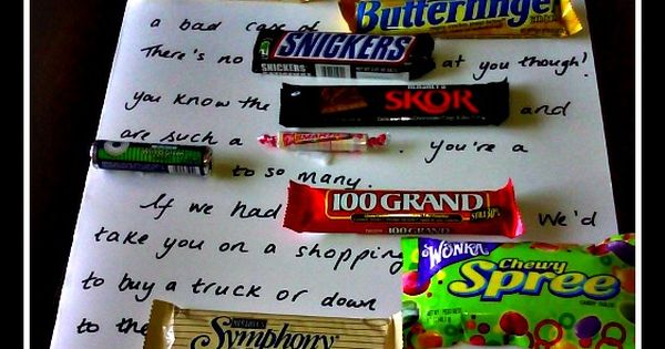 father's day card made with candy | do you like chocolate bars