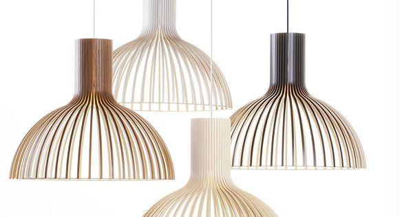Victo 4250 by secto design victo pendant light is handmade of pefc certified formpressed birch - Vertigo verlichting ...