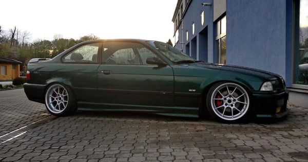 bmw e36 coup u00e9 on staggered bbs rk wheels