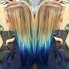Blonde And Red Underneath Hair Dip Dye Hair Dyed Blonde Hair Blue Hair