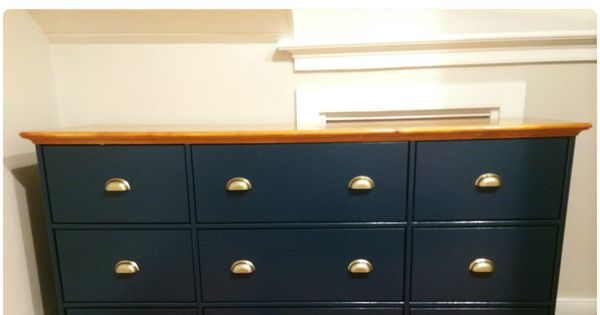 Best My First Ikea Hack Hurdal 9 Drawer Dresser Painted In 400 x 300