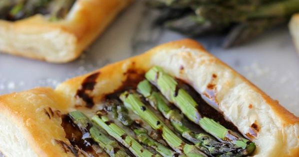 Asparagus Tart with Balsamic Reduction   Recipe   Asparagus Tart ...