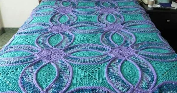 Crocheted Double Wedding Ring Quilt Inspiration