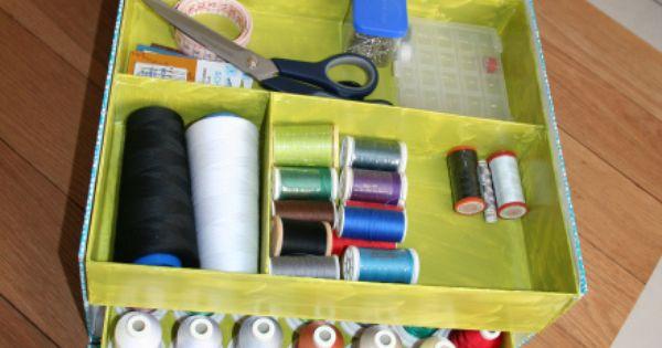 Mon rangement de bobines materiel de couture boite de for Rangement materiel couture