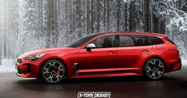 Kia Stinger Turned Into Sporty Estate In Photoshop Kia Stinger Kia Kia Ceed Gt