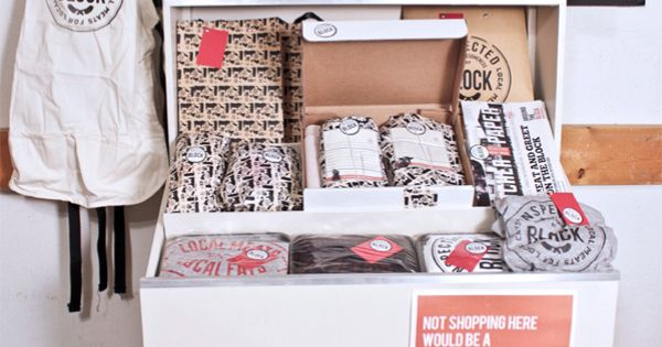 Creative Pop Up Store Packaging Block Butcher Shop By
