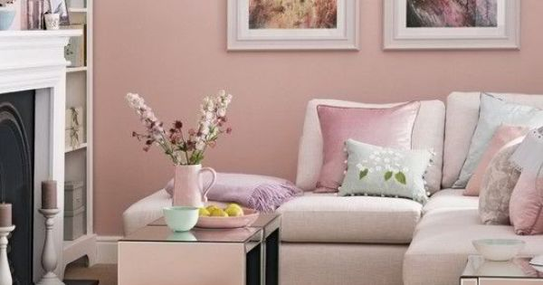 Candy Floss Pink Living Room Would Look Cute In A Mocha