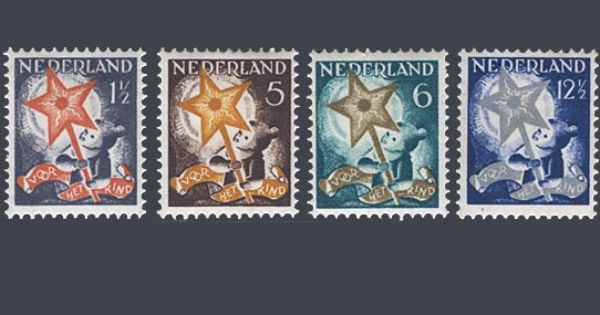 De kinderpostzegels uit 1933 met de voorstelling kind met driekoningenster ontwerp j s - Ontwerp kind ...