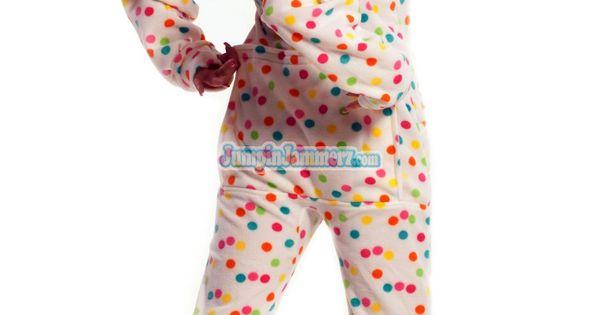 Frosty Dots - Drop Seat Hoodie - Pajamas Footie PJs