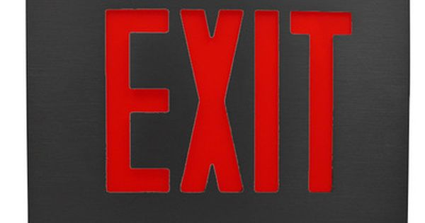 Exit Sign Can Be Red Or Green Depending Where You Are Exit Sign Signs School Logos