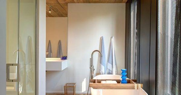 holzdecke holzboden verkleidung skandinavische einrichtungsideen bad pinterest. Black Bedroom Furniture Sets. Home Design Ideas