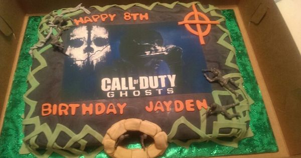 Call Of Duty Ghost Cake Made For Jayden S Birthday