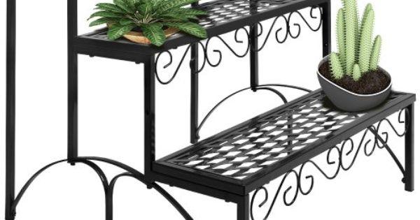 Etagere Jardin Metal Pot Porte Fleurs Plantes 60x70x60cm