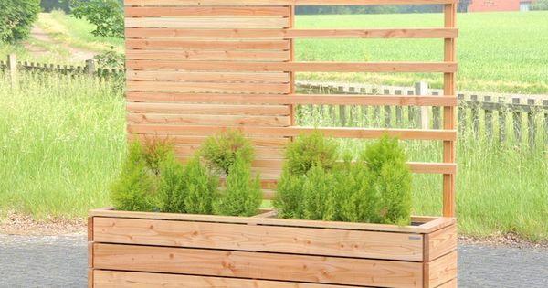 sichtschutz rankgitter mit pflanzkasten holz sichtschutz mit pflanzkasten aus holz l nge. Black Bedroom Furniture Sets. Home Design Ideas