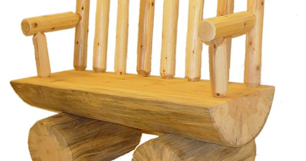 Round Half log cedar bench  Wood projects  Pinterest  Log furniture ...