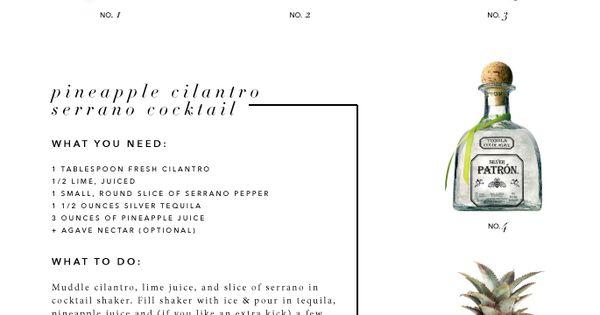 Pineapple Cilantro Serrano Cocktail from Catalina Creative   A Little ...