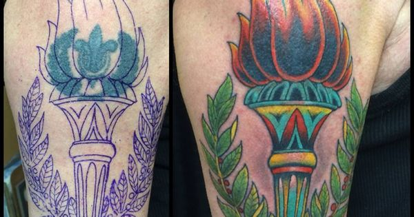 Why good tattoos ain 39 t cheap pictured torch cover up by for How to email a tattoo artist