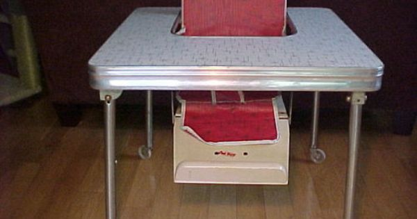 Details About 1950 S Baby High Chair Table Formica Retro