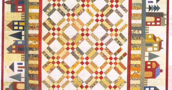 Around The Block Fabulous Pieced House Quilt Pattern
