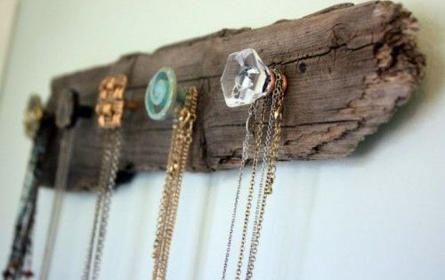 Screw Cheap Furniture Knobs Into Wood for a Necklace Holder | 31