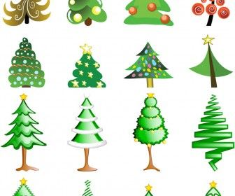 Logotypes With People Vector 3 Sets With 23 Vector Logotypes With Stylized People In Abstract Christmas Tree Logo Christmas Tree Design Cartoon Christmas Tree