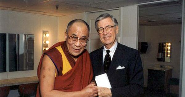 (awesome people hanging out together: Mister Rogers and the Dalai Lama) 15