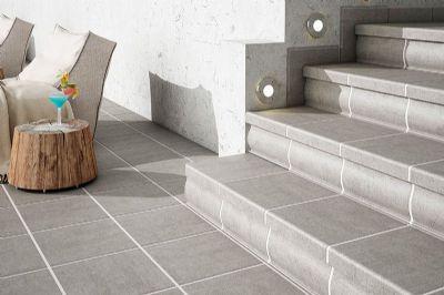 Pavimento para exterior cer mica color grey pelda o - Ceramica para exterior ...