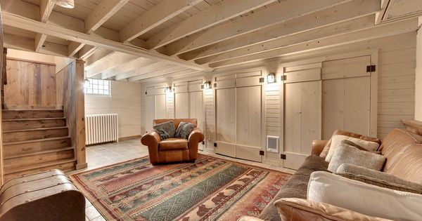 Exposed Beam Ceiling Home Basement Ideas Pinterest