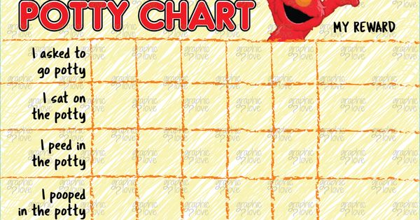 elmo inspired potty training chart  free punch cards