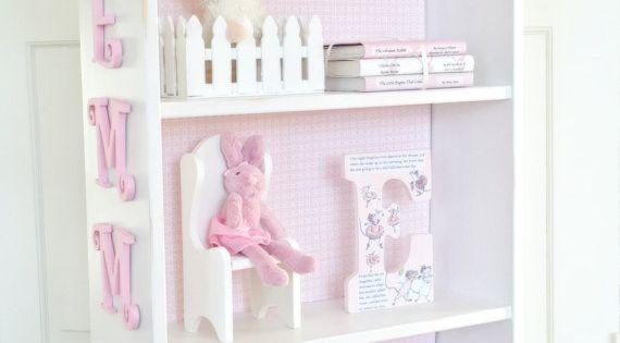 Charming cottage dollhouse bookcase, Custom children's bookcase, Nursery bookcase, Girl's ...