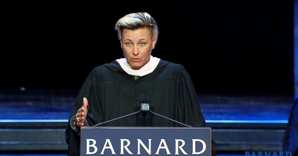 Abby Wambach Gives Rallying Cry To Women In Commencement Speech Teach Our Girls To Be Wolves And Stop Being Red Rid Inspirational Speeches Abby Wambach Speech