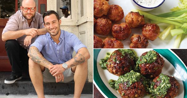 Mmmm! Meatballs! There's a yummy looking buffalo chicken meatball recipe on here!