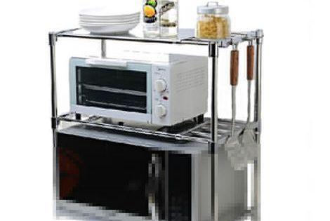 Stainless Steel Shelf Rack Kitchen Rack Kitchen Storage Microwave Stand