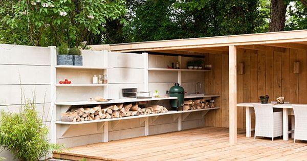 beton outdoor k che big green egg bbq oneq gas grill ofen gartenk chen pinterest gr n und. Black Bedroom Furniture Sets. Home Design Ideas