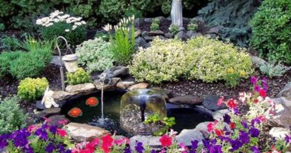 New 84 gallon complete garden water fountain pond kit for 90 gallon pond liner