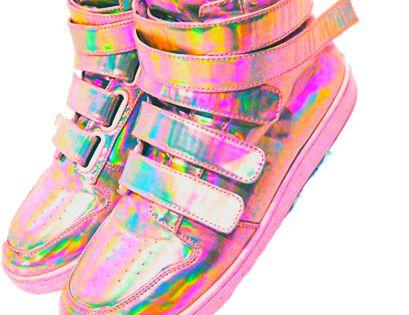 Tornasol holographyc pinterest zapatos for Zapateras para ninas