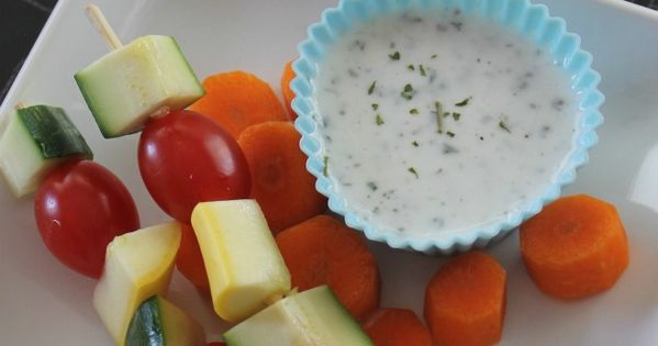 Homemade ranch dressing, Homemade ranch and Veggie kabobs on Pinterest