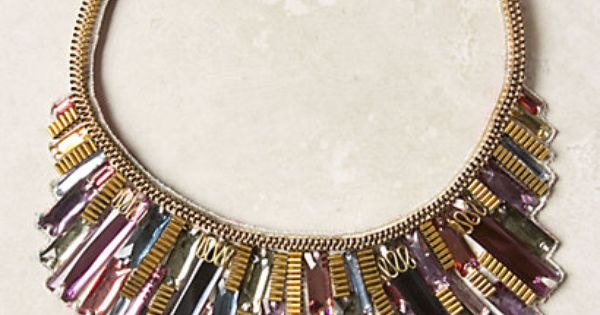 Metropolis Bib Necklace - anthropologie.com Heralded as one of India¿s most notable