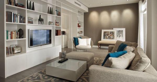 wohnzimmer mit moderner einrichtung in weiß und taupe | wohnzimmer ... - Taupe Wohnzimmer