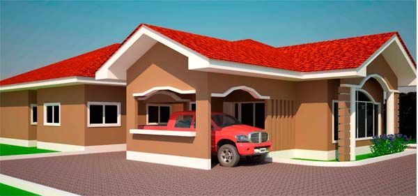 House Plans Ghana 3 4 5 6 Bedroom House Plans In Ghana Modern House Plans Bedroom House Plans 6 Bedroom House Plans