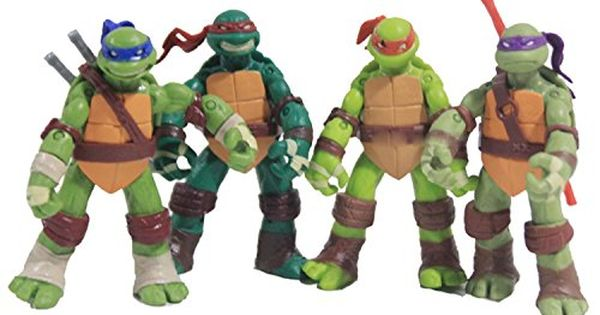 6Pc Teenage Mutant Ninja Turtles Action Figures Classic Collection Toys TMNT Set