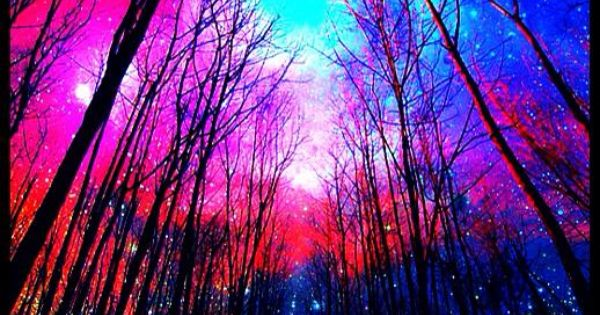 neon glowing sky forest | ☯‿☯ LIGHT THERAPY SESSION ...