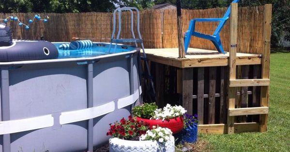Pallet Pool Deck Pallets Pinterest Pallet Pool And
