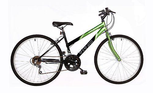Titan Wildcat Ladies Mountain Bike Green Black 26 Inch On Sale Mountain Biking Women Black Mountain Bike 26 Mountain Bike